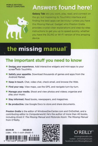 Galaxy Tab: The Missing Manual - The Book That Should Have Been in
