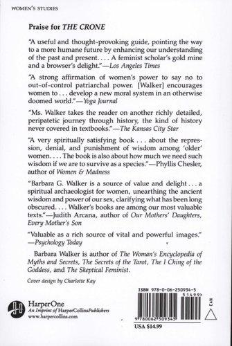 The Crone Paperback 1st Harpercollins Pbk Ed Barbara G Walker