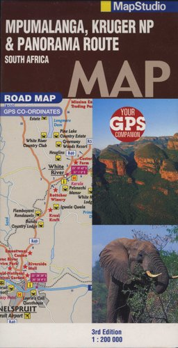 Panorama Route South Africa Map.Road Map Mpumalanga Kruger National Park Panorama Route Sheet