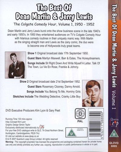 Best Of Dean Martin And Jerry Lewis - Volume 1 (DVD): Dean Martin