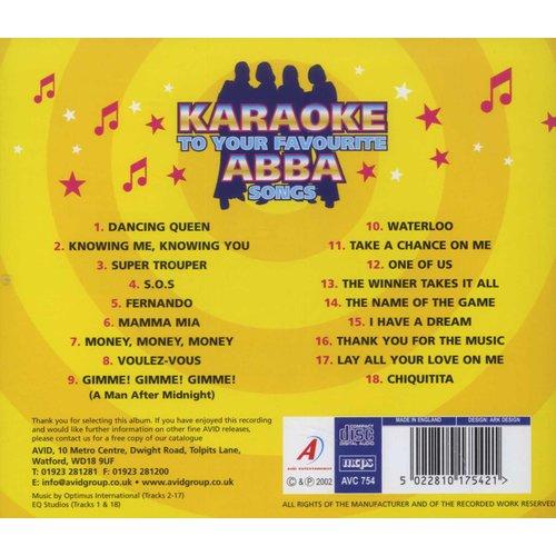 Various Artists - Abba Karaoke (CD): Stig Anderson, Karaoke, Benny