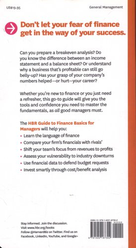 HBR Guide to Finance Basics for Managers (HBR Guide Series