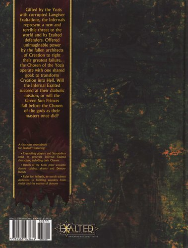 The Manual of Exalted Power: Infernals (Hardcover): Alan