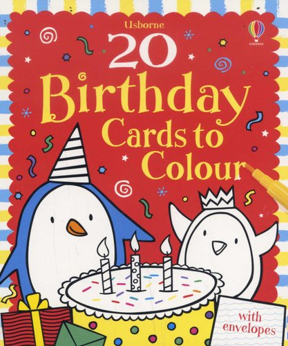 20 Birthday Cards To Colour Cards 9781409522843 Books Buy