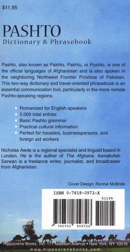 Pashto Dictionary and Phrasebook - Pashto-English/ English