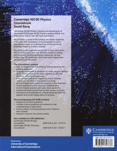 Cambridge International IGCSE - Cambridge IGCSE Physics