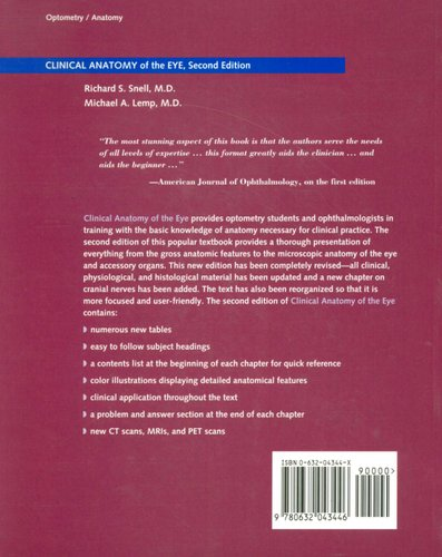 Clinical Anatomy Of The Eye Paperback 2nd Edition Richard S