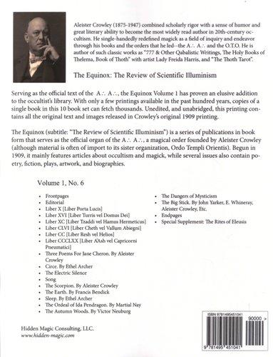 The Equinox Vol 1 No 6 The Review Of Scientific Illuminism