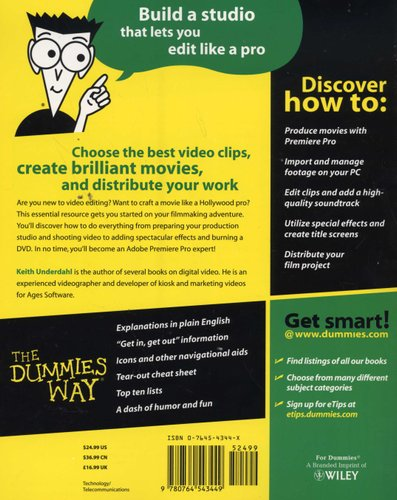 Adobe Premiere Pro For Dummies Paperback Keith Underdahl