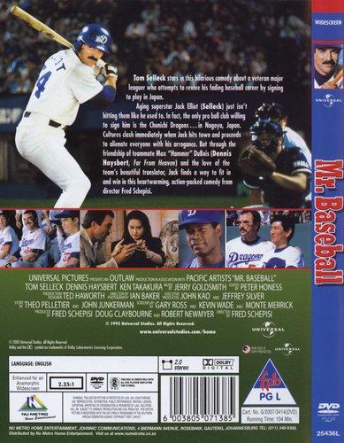 Mr Baseball Dvd Tom Selleck Dennis Haysbert Movies