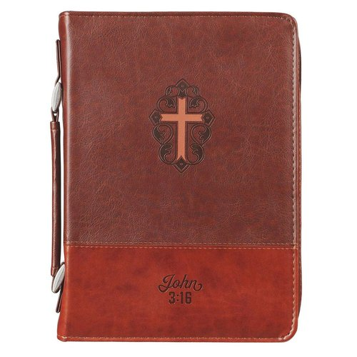 John 3:16 Collection Two-Tone Brown Faux Leather Bible