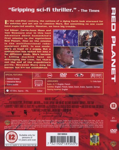 Red Planet (DVD): Val Kilmer, Carrie-Anne Moss | Movies & TV
