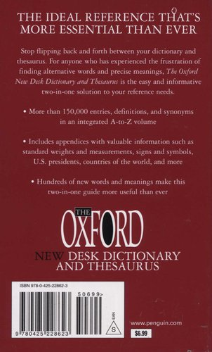 The Oxford New Desk Dictionary and Thesaurus (Paperback, 3rd