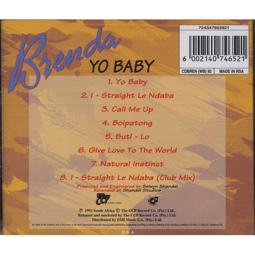 Brenda Fassie - Yo Baby (CD) | Music | Buy online in South Africa