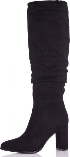 aefc6fa6a3ab Quiz Women TOWIE Ruched Block Heel Knee High Boots (Black)