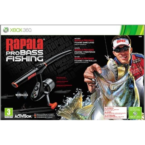 Rapala Pro Bass Fishing Rod Bundle Xbox 360 Dvd Rom Xbox360