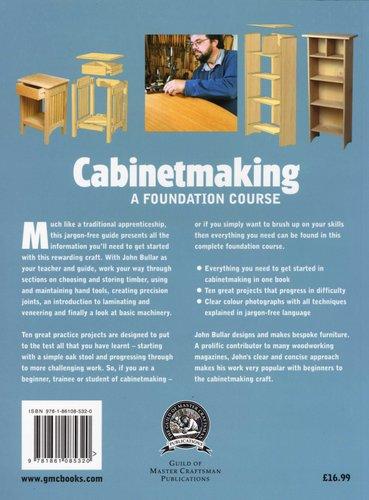 Cabinetmaking A Foundation Course Paperback John Bullar