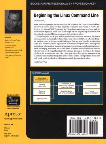 Beginning The Linux Command Line Paperback 1st Ed Van Vugt