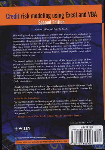 Credit Risk Modeling Using Excel And Vba Hardcover 2nd Edition