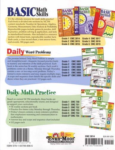 Basic Math Skills, Grade 1 (Paperback): Evan-Moor Educational