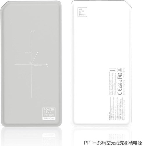 Remax Proda Chicon Wireless Power Bank (10 000mAh)(Grey