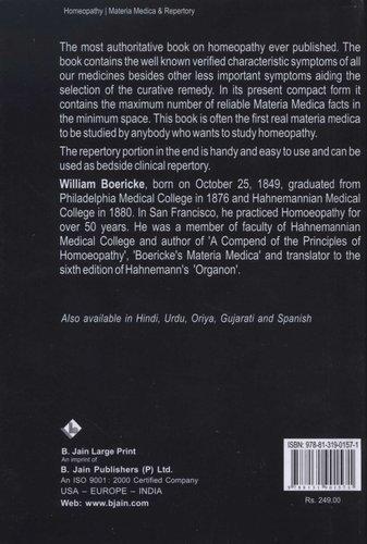 Pocket Manual of Homeopathic Materia Medica & Repertory (Hardcover