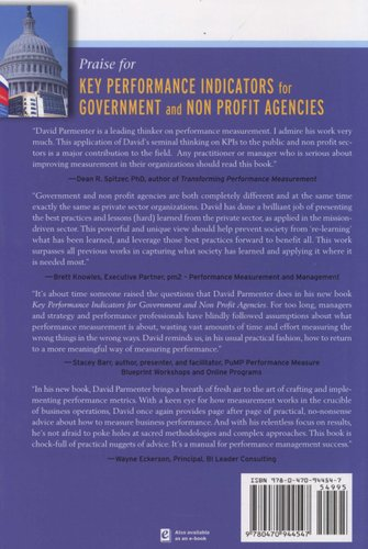 key performance indicators for government and non profit agencies parmenter david