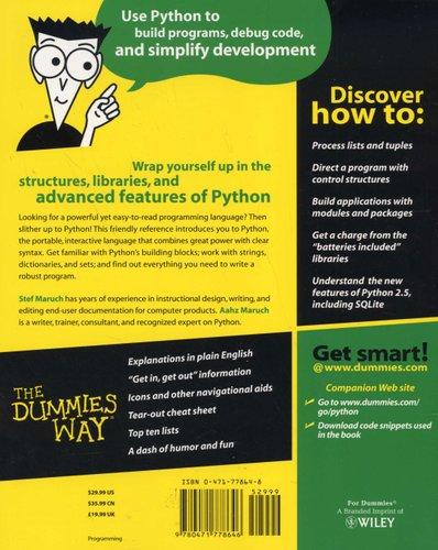 Python For Dummies (Paperback): Stef Maruch, Aahz Maruch