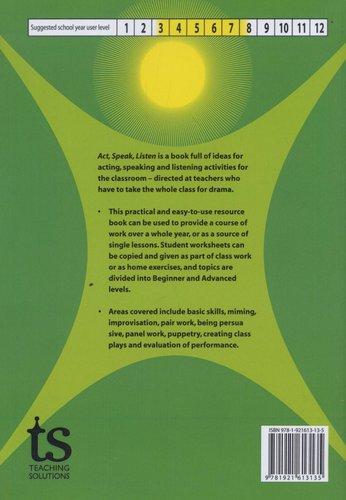 Act, Speak, Listen - Drama Activities for the Classroom (Paperback