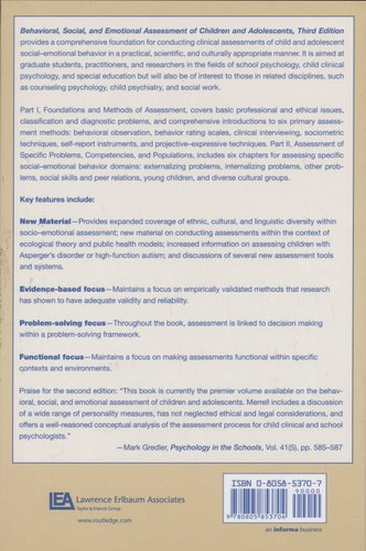 Behavioral, Social, and Emotional Assessment of Children and