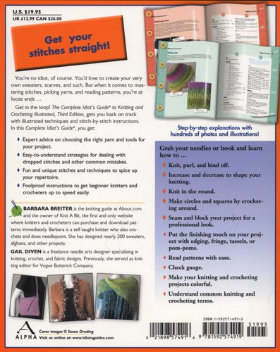 The Complete Idiot S Guide To Knitting And Crocheting Third