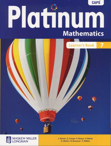platinum mathematics grade 7 learner s book paperback l bowie rh loot co za platinum social science grade 7 teacher's guide platinum mathematics grade 7 teacher's guide pdf free download