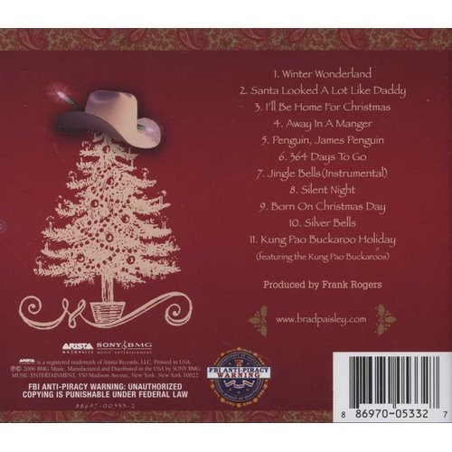 Brad Paisley Christmas.Brad Paisley Christmas Cd Music Buy Online In South