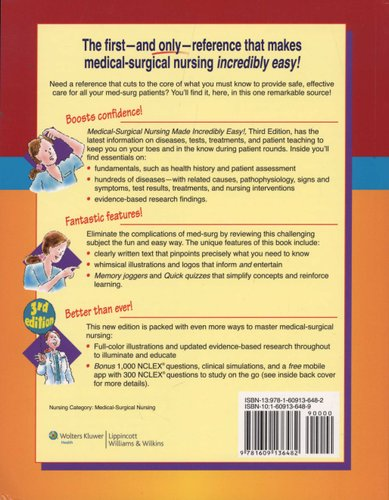 Medical-surgical Nursing Made Incredibly Easy! (Paperback