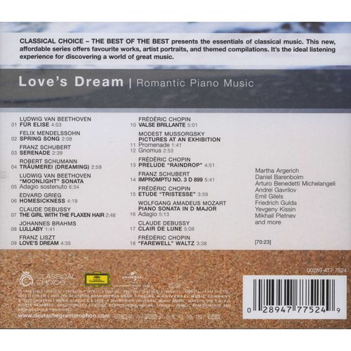 Anatol Ugorski - Love's Dream: Romantic Piano Music (CD