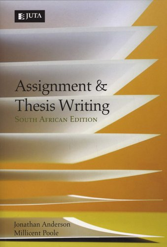 thesis and assignment writing anderson durston and pool pdf