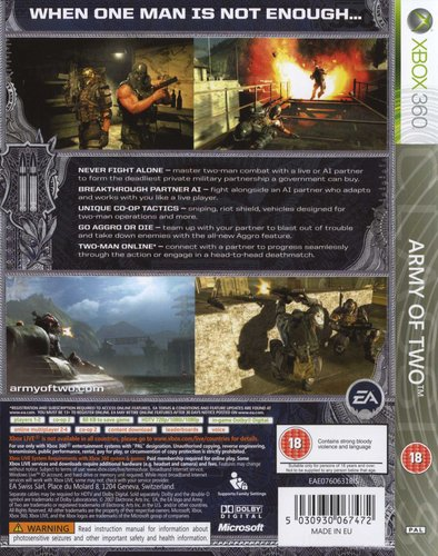 Army of Two (XBox 360, Game): Xbox360 | Games | Buy online