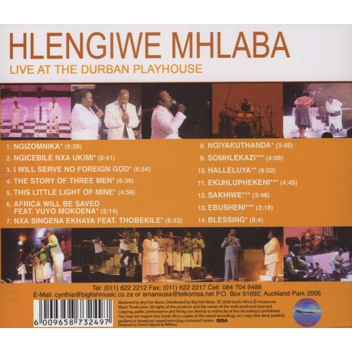076496817a3 Hlengiwe Mhlaba - Live At Durban Playhouse (CD)