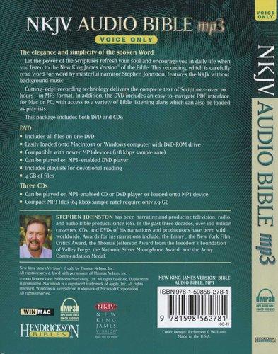 NKJV Audio Bible MP3 (MP3 format, CD): Stephen Johnston