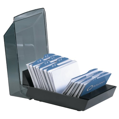 Rolodex business card tray with 200 card capacity stationery share your images colourmoves