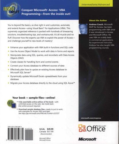 Microsoft Access 2010 - VBA Programming Inside out (Paperback