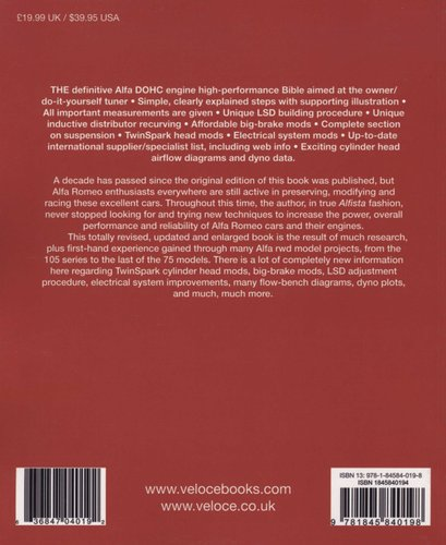 Automobilia The Alfa Romeo DOHC Engine High Performance Manual New ...
