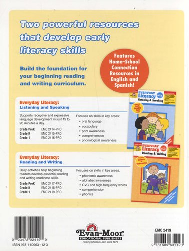 Everyday Literacy - Reading and Writing, Grade 1 - Teacher Edition