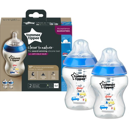 Tommee Tippee - Closer to Nature Decorated Bottle (Boy ...