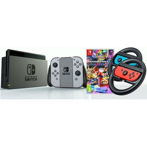 Nintendo Switch Console Bundle With Mario Kart 8 Deluxe