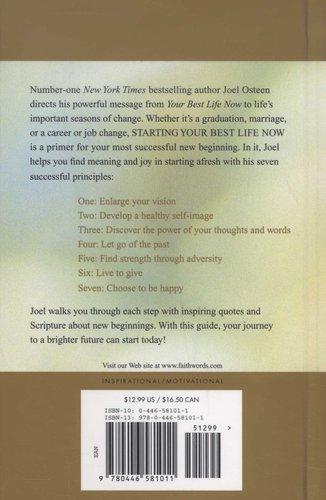 Starting Your Best Life Now Hardcover Joel Osteen 9780446581011
