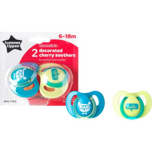 Tommee Tippee - Essential Basics Decorated Soother (6 - 18 ...