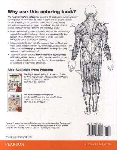 The Anatomy Coloring Book (Paperback, 4th edition): Wynn Kapit ...