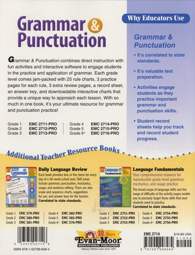 Grammar & Punctuation, Grade 4 - Grade 4 (Paperback, Teacher