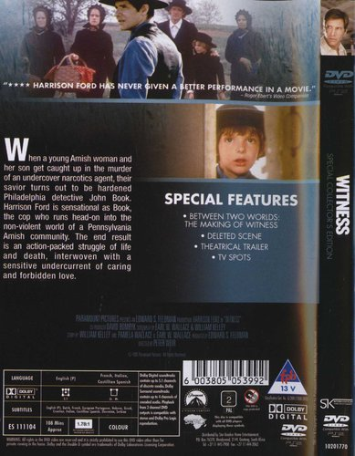 Harrison Ford / Kelly McGillis - Witness - Special Collector's